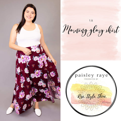 Morning Glory Skirt- 1X
