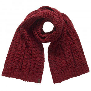 Superdry Ladies Cheska Over Sized Red Scarf.