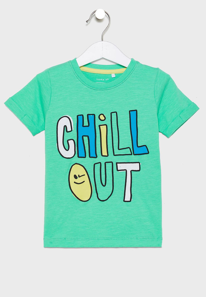 """Chill Out"" Print T-shirt mint"