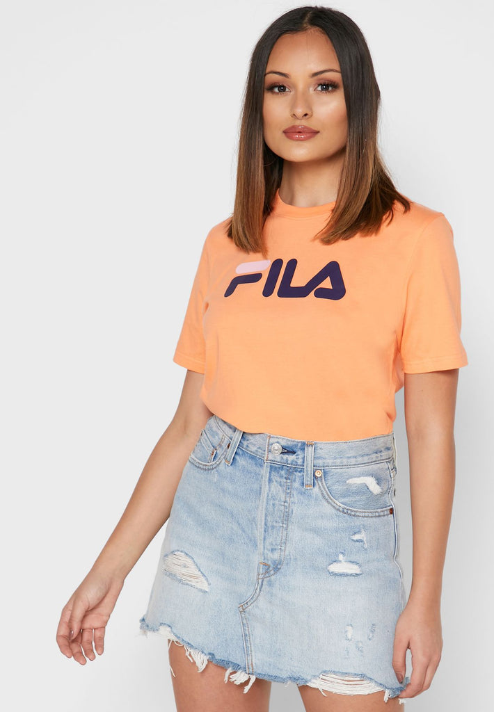 Eagle Short Sleeve Orange Women's Tee by Fila