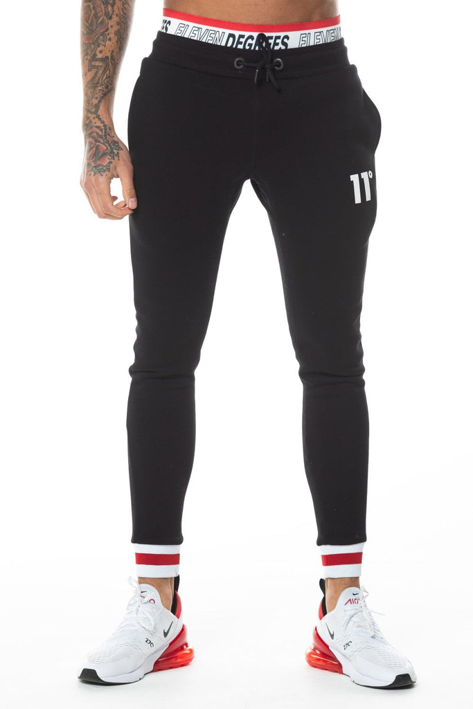 Apollo Black Skinny Fit Joggers