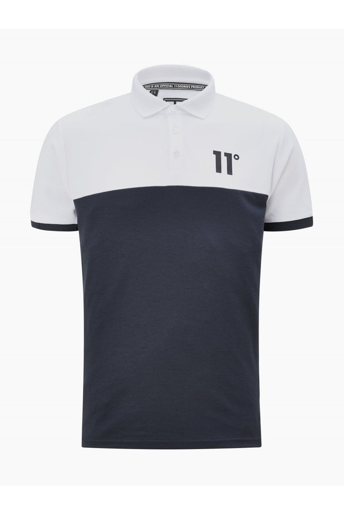 Block Polo Shirt by 11 Degrees