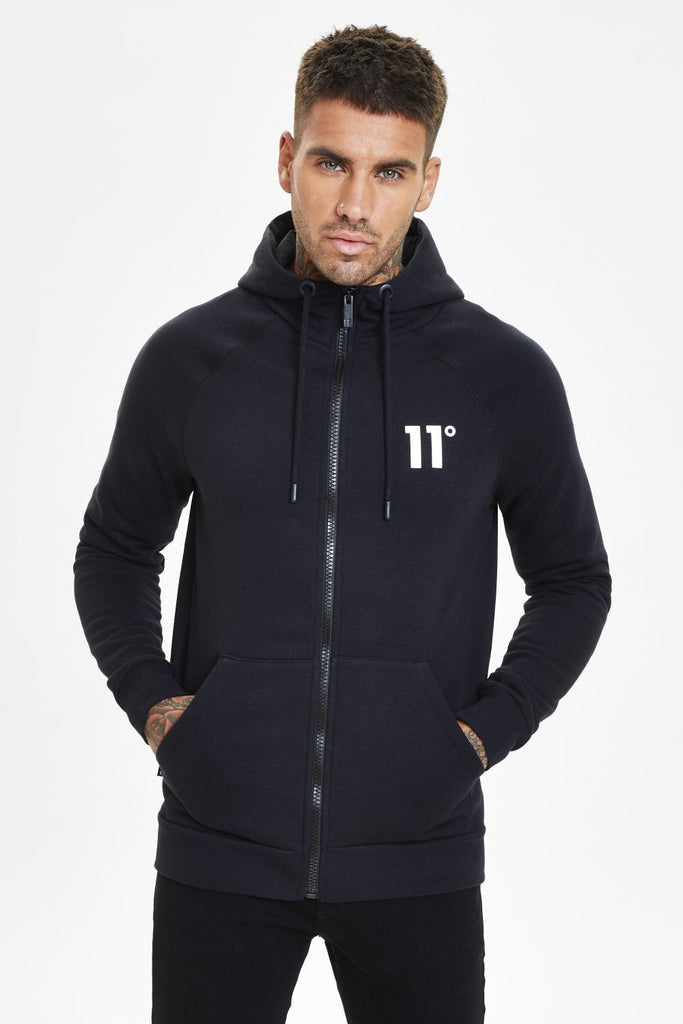 Core Full Zip Hoodie in Black
