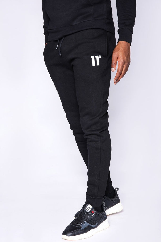 Men's 11 Degrees Core  Regular Fit Black Joggers