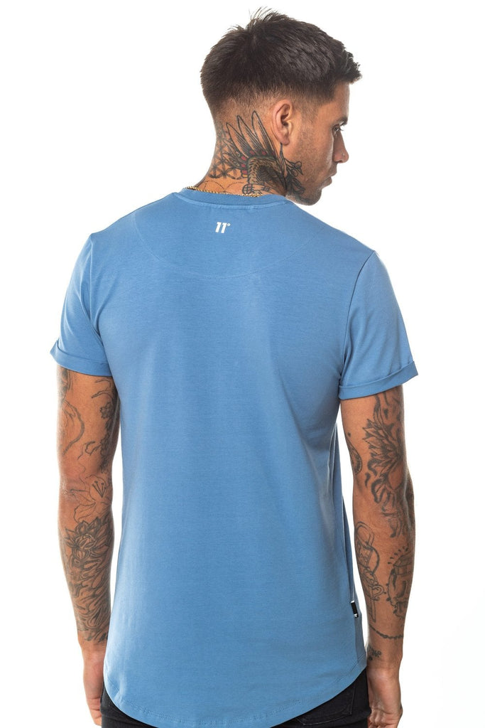 Core Muscle Country Blue Tee by 11 Degrees back