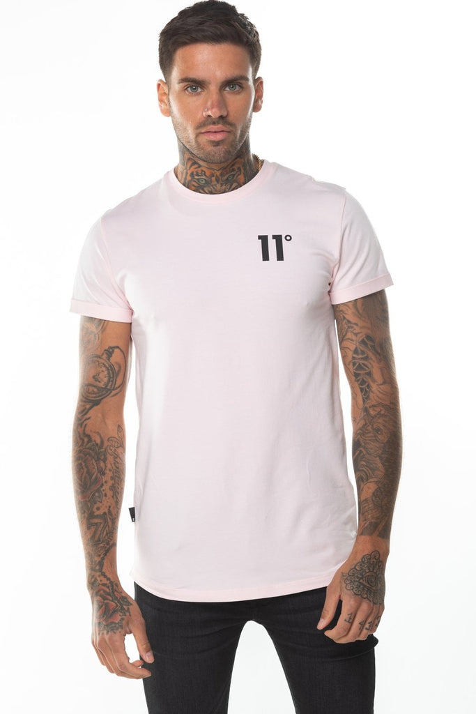 Core Muscle Powder Pink Tee by 11 Degrees