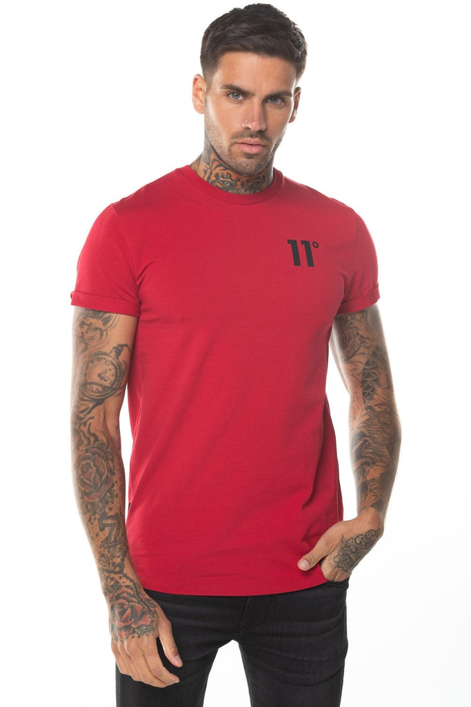 Core Muscle Fit T-Shirt - Ski Patrol Red by 11 Degrees