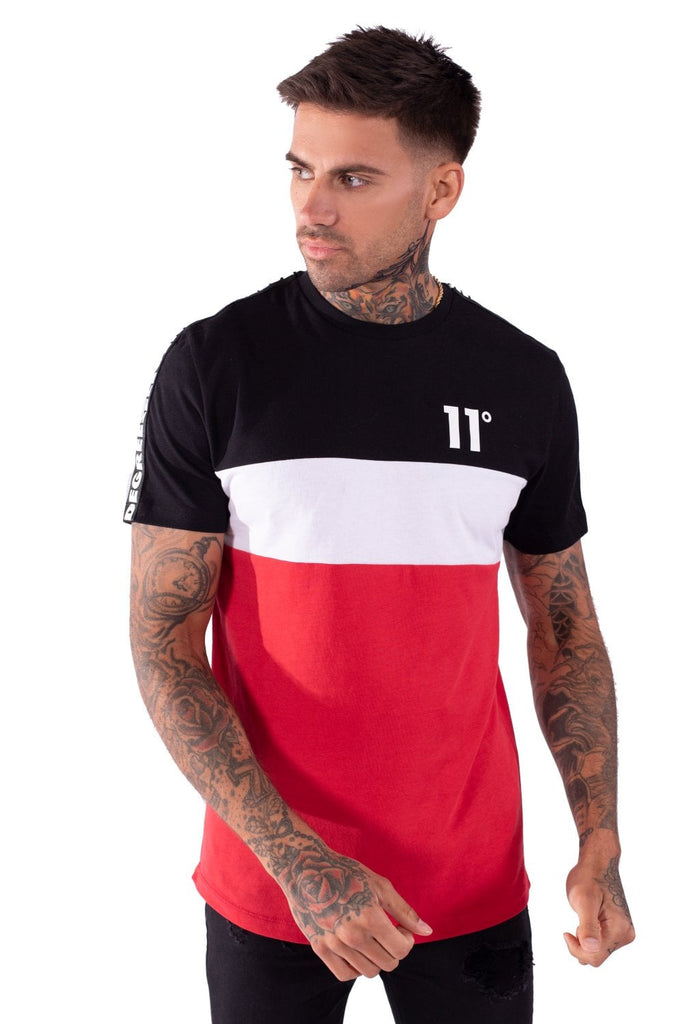 Domino Black/White/Red Short Sleeve Tee