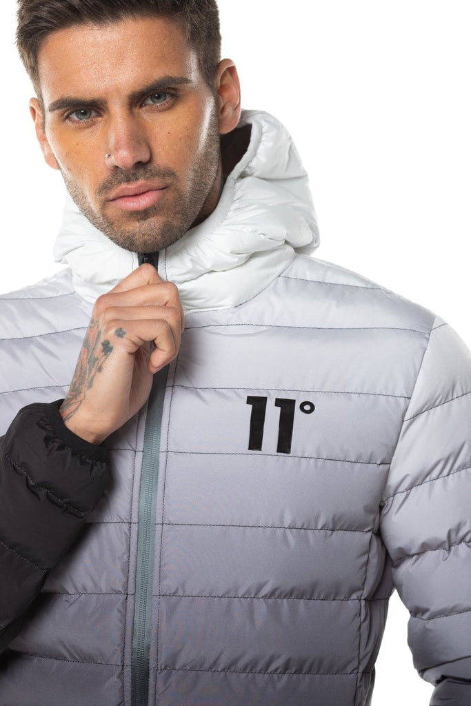 Space Puffer Jacket - Black/White close