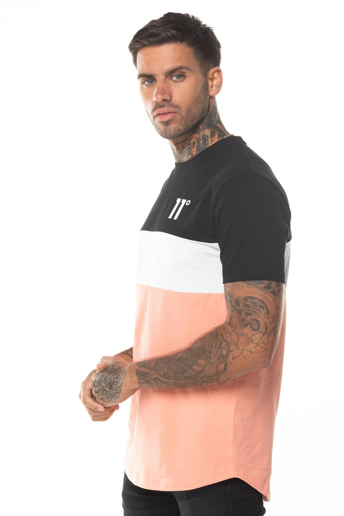 Triple Panel Peach Short Sleeve Crew Tee