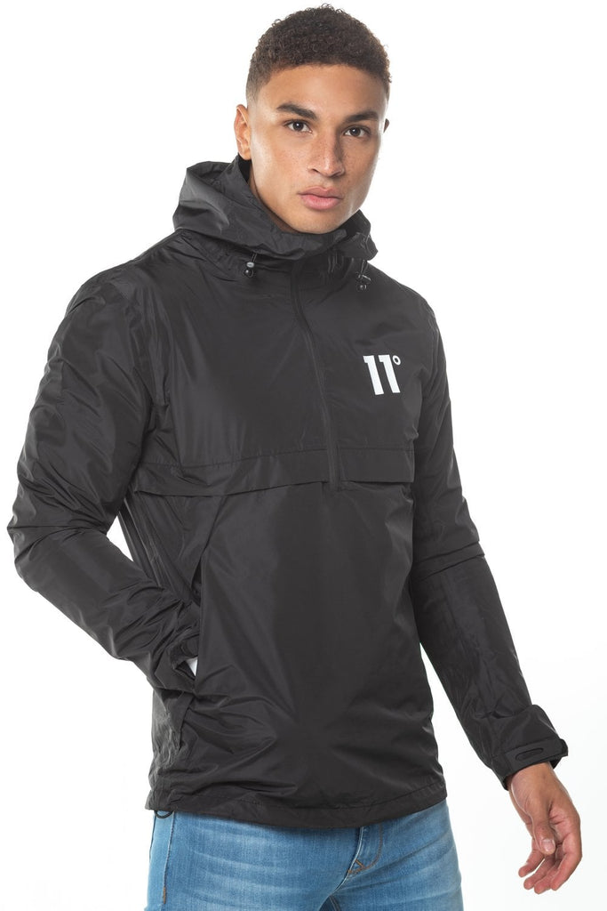 Waterproof Hurricane Black Over the Head Hooded Jacket
