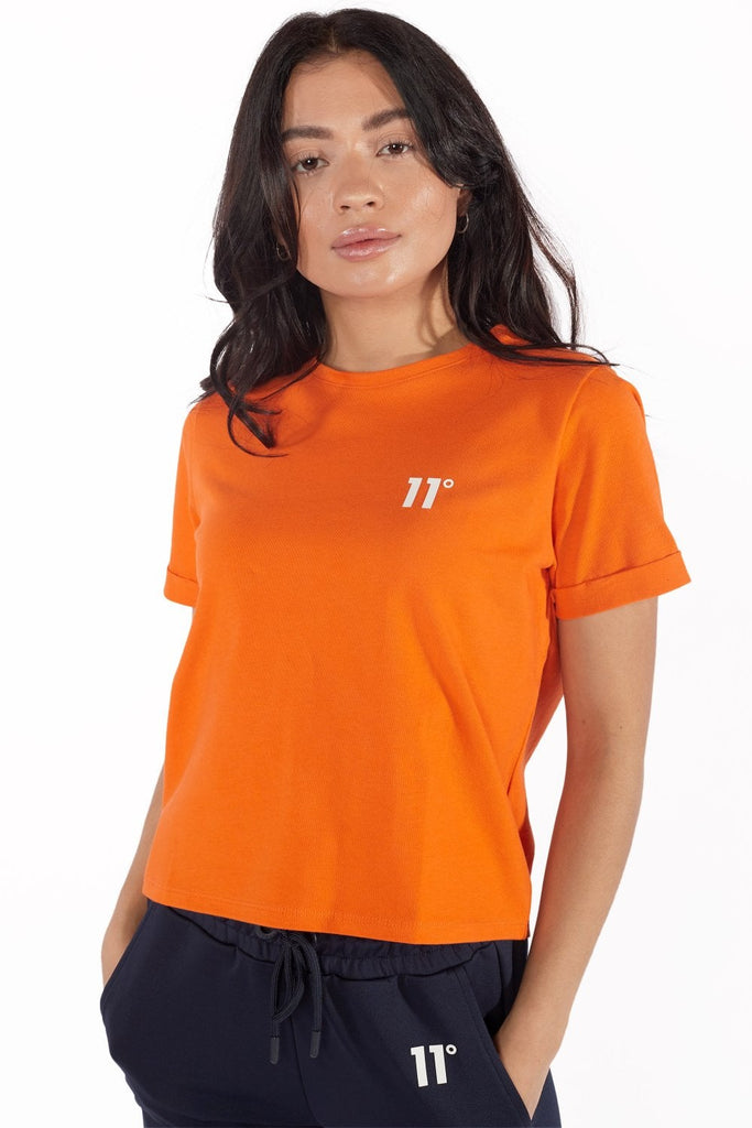 Women's Core Cropped T-Shirt Vermillion Orange