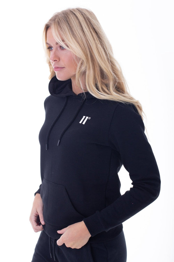 Core Black Pullover Hoodie by 11 Degrees Womens