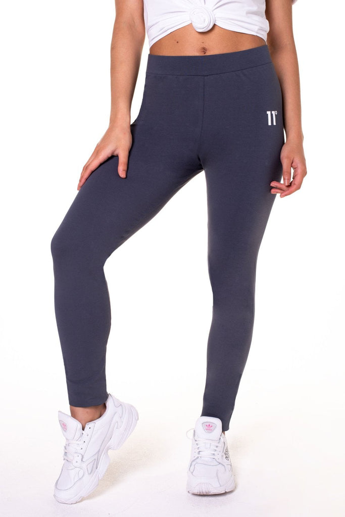 Logo Anthracite Legging by 11 Degrees Womens