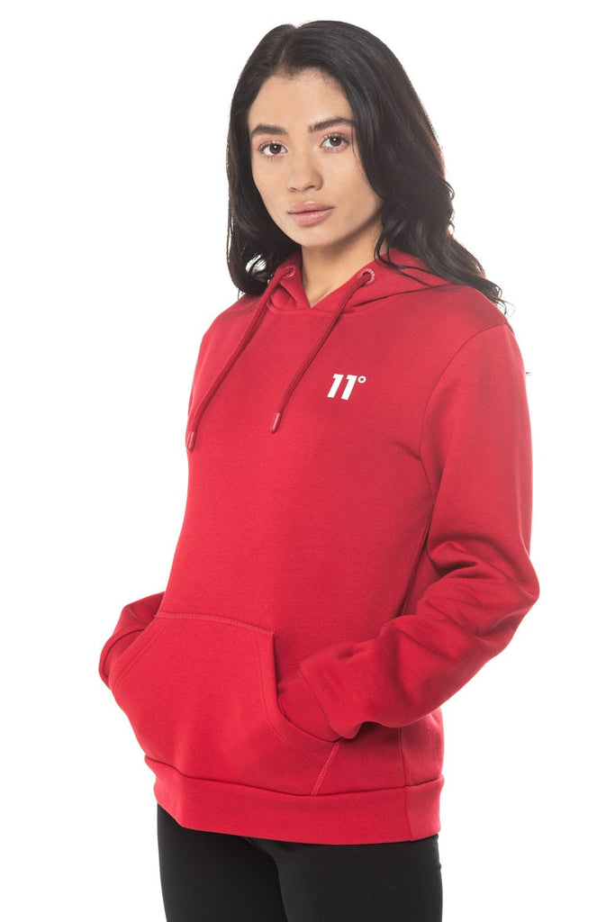 Core Pullover Hoodie Ski Red