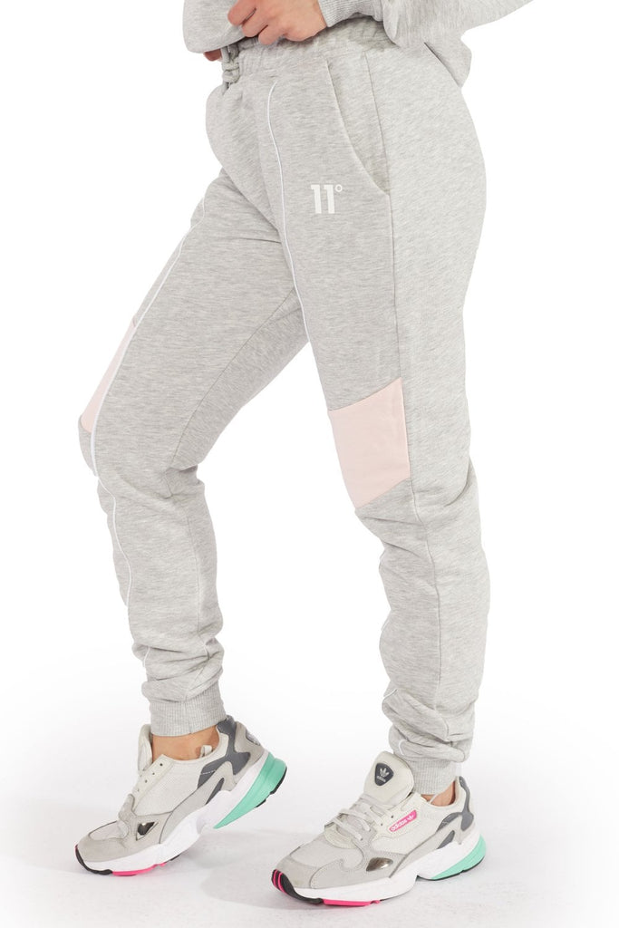 Panel Grey Marl Womens Joggers by 11 Degrees