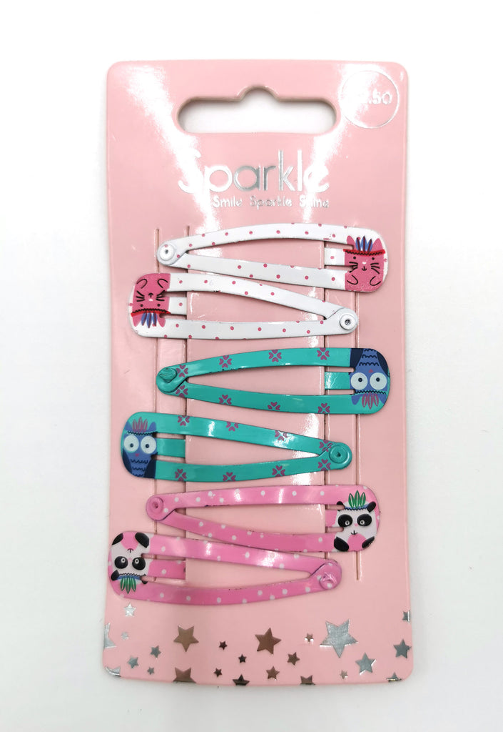 6 Pack Snap Hairclips