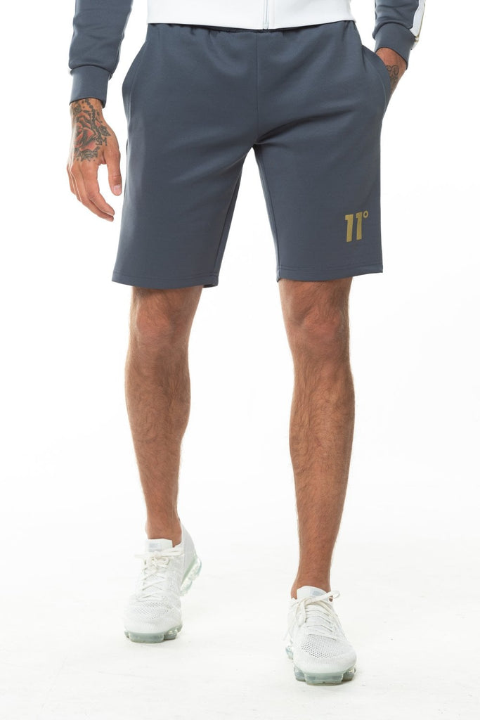 11 Degrees Taped Poly Shorts - Anthracite