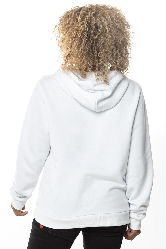 Core Women's Pullover Hoodie White by 11 Degrees