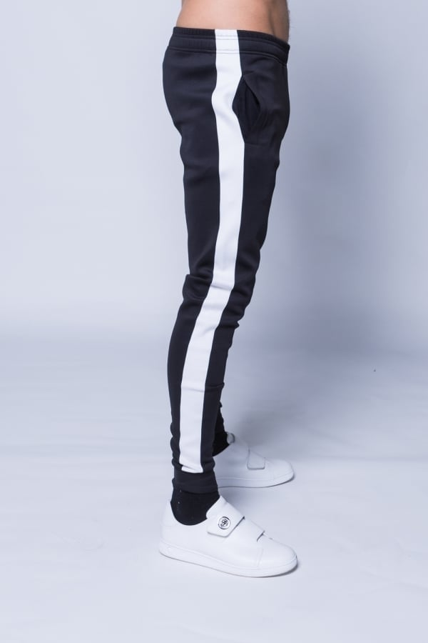 11 Degrees Poly Pant Skinny Fit Black & White