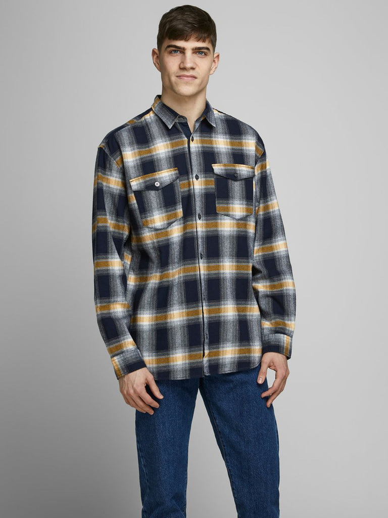 Ottowa Long Sleeve Worker Shirt navy