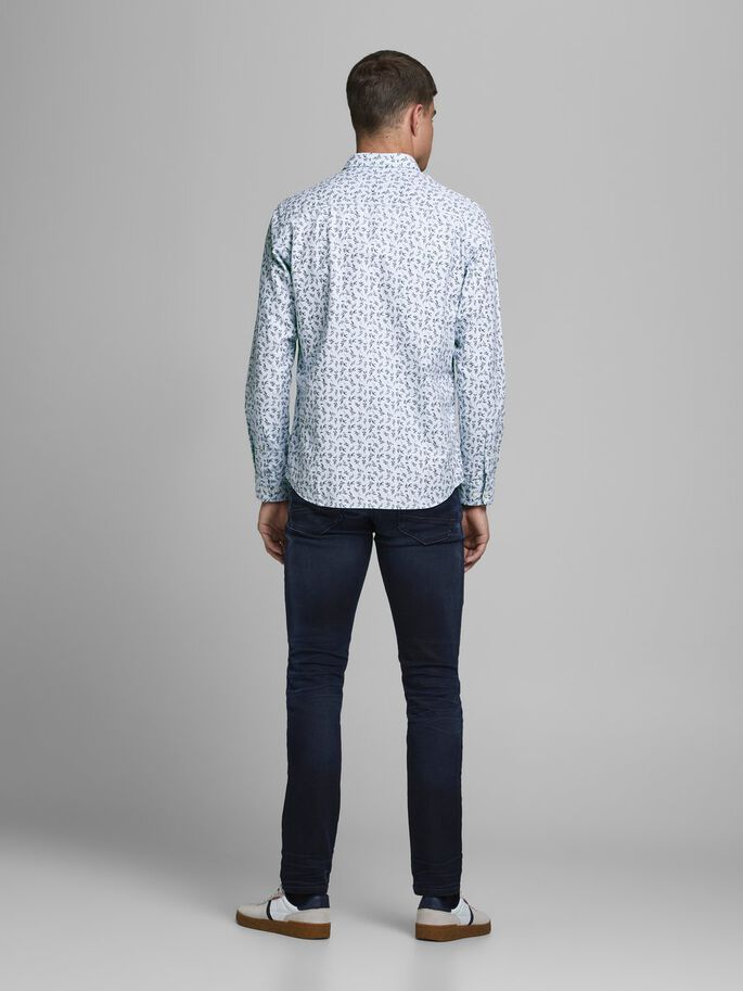 Maxwell  One Pocket Cashmere Blue Long Sleeve Shirt