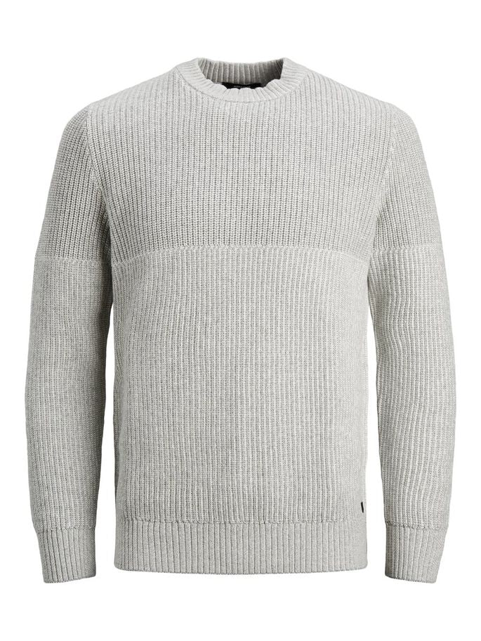Harvest Crew Neck Light Grey Knit