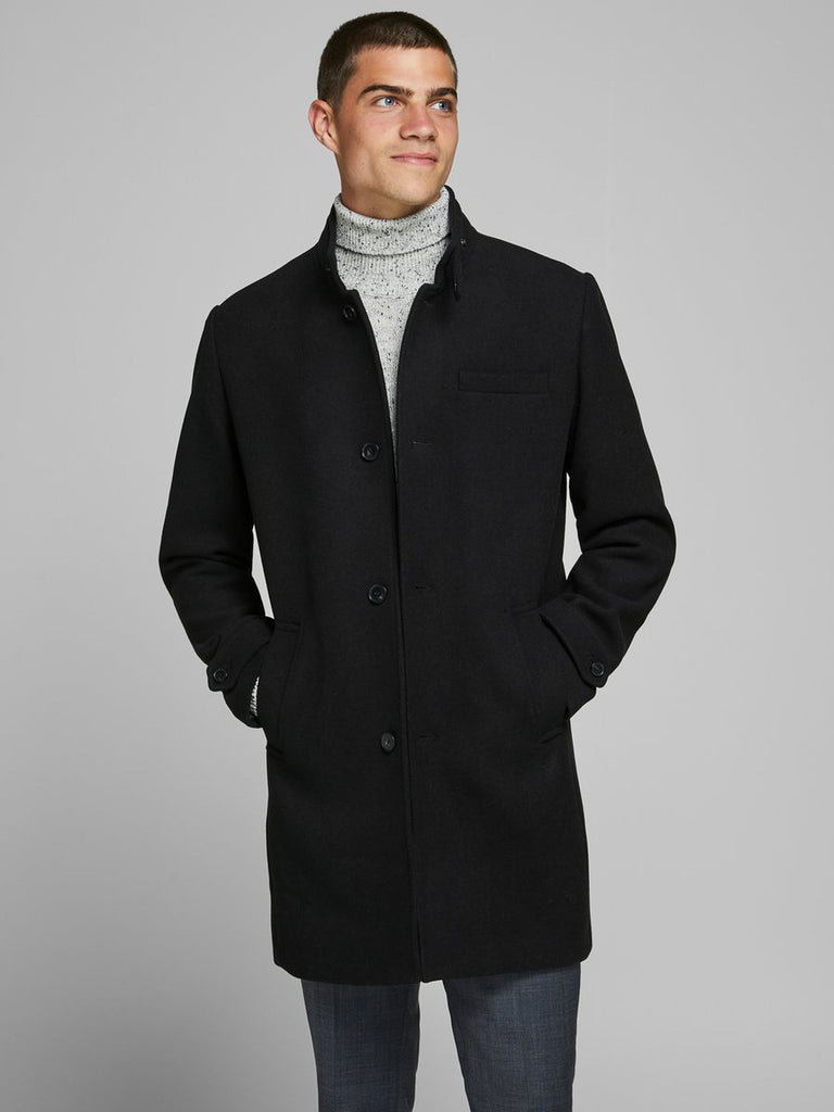 Blamelton Black Wool Coat
