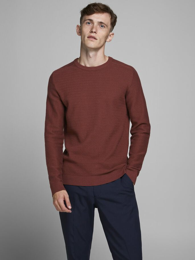 Adam Crew Neck Chocolate Knit