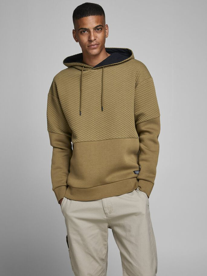 Button Over Head Kangaroo Colour Hoodie