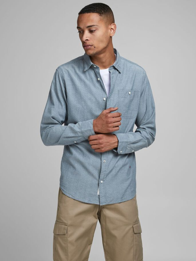 Premium Long Sleeve Nick Shirt medium blue