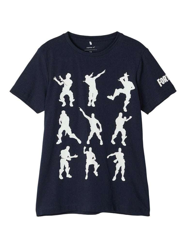 Fortnite Alex Short-sleeved boys Navy t-shirt 5 to 12 years by Name It.