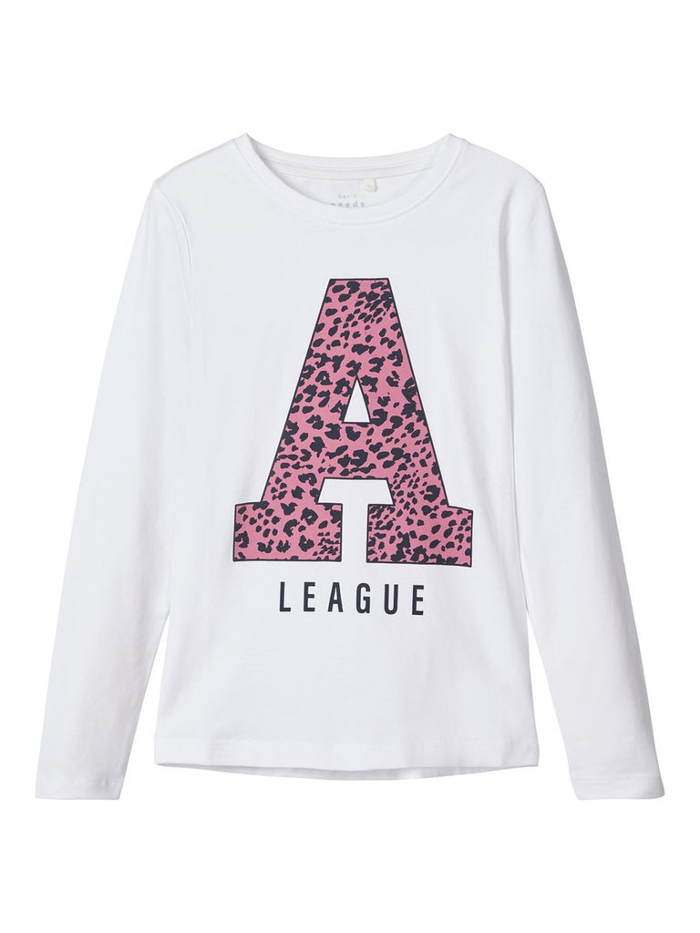 Printed Long-sleeved Vix 2020 girls White T-shirt age 5 to 12 years by Name It