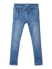 Bella Tora 1315 kid girl Light blue denim Pants age 5 to 12 years by Name It.