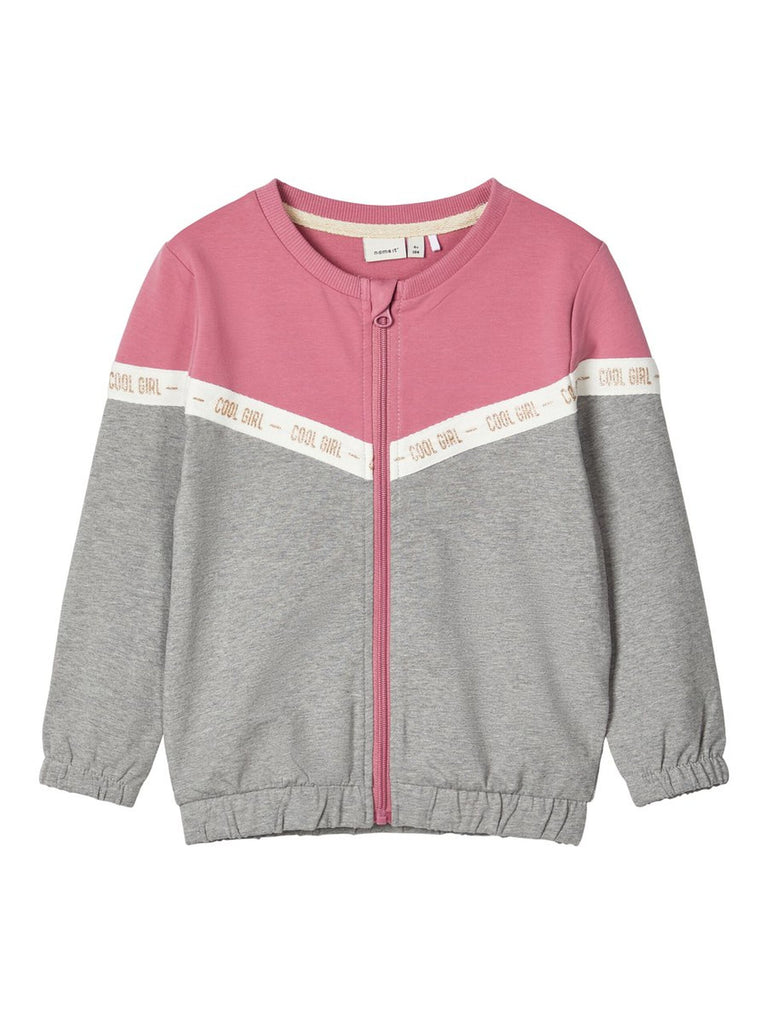 Cotton Sweat Bosynne Cardigan  Pink
