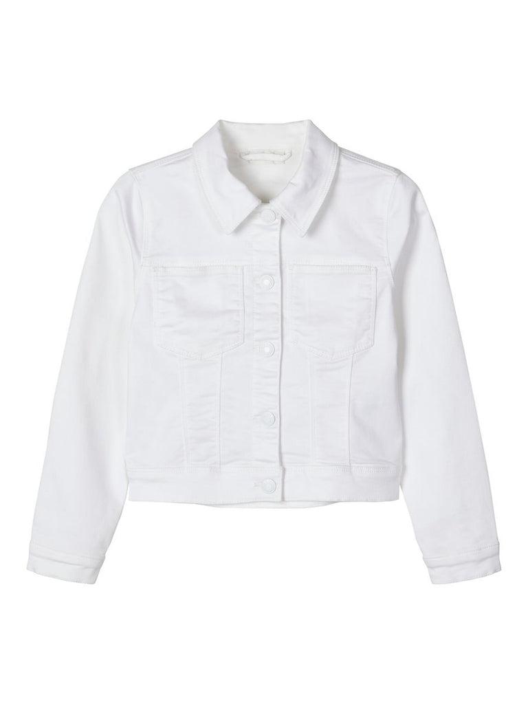 Fatinna Twill-woven White Jacket by Name It for girls age 5 to 12 years