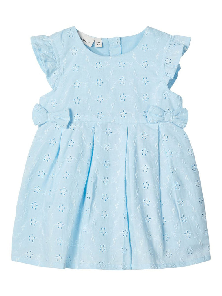 Freja Newborn Dress Broderie anglaise Blue dress