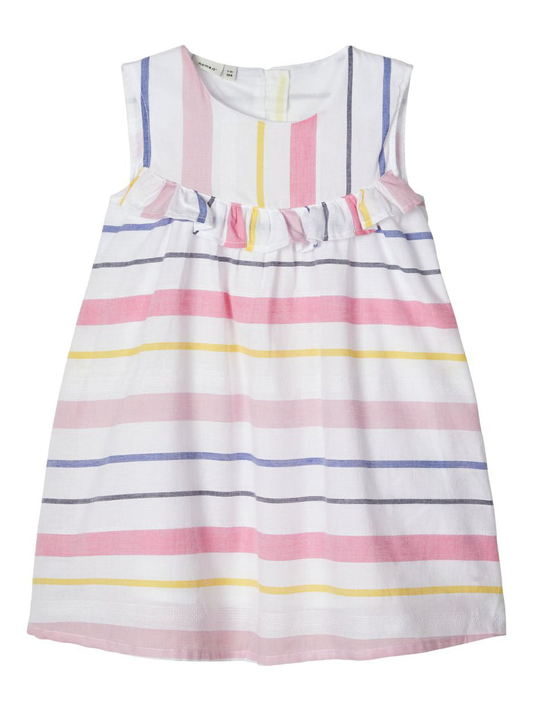 Striped Cotton Feodora Dress