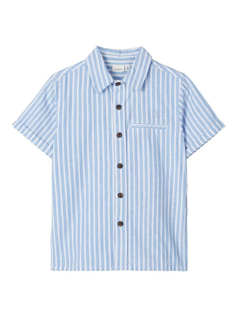 Fugl Short-sleeved Cotton blue stripe Shirt by Name It