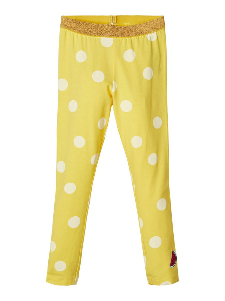Patterned Cotton Dalla Legging Yellow