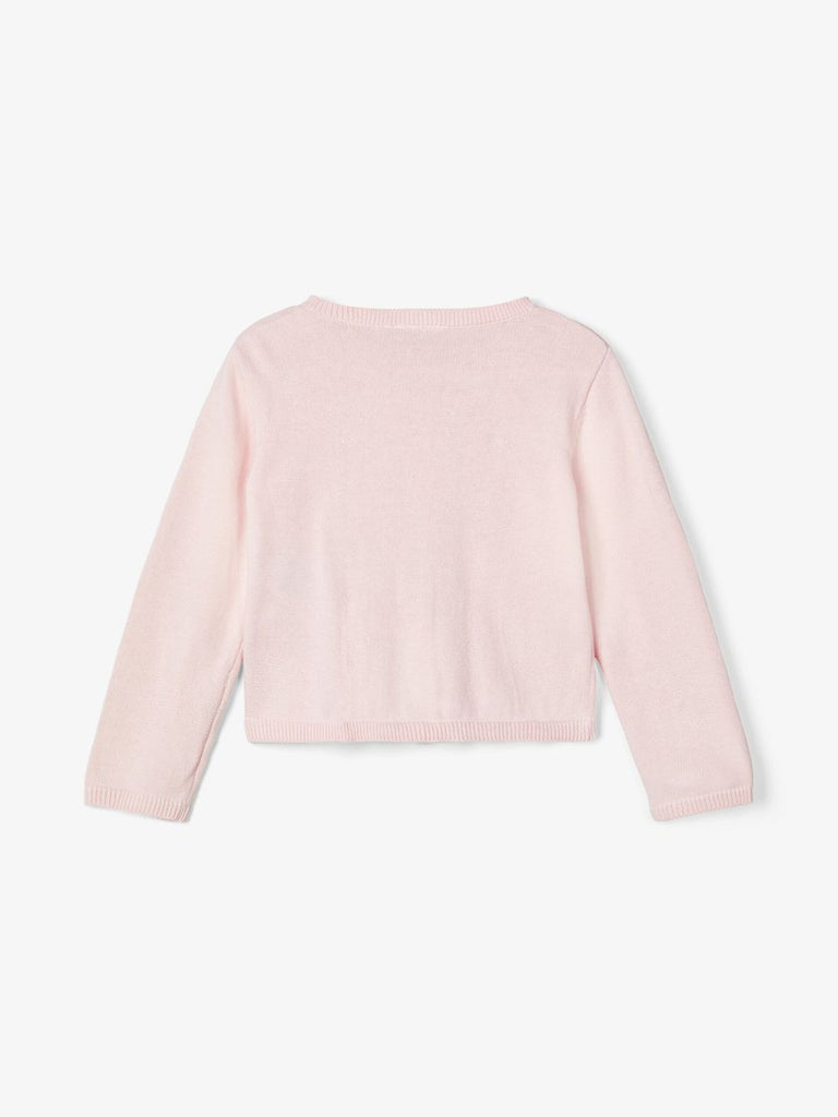 Perforated Knit Vrilma Cardigan Pink _back