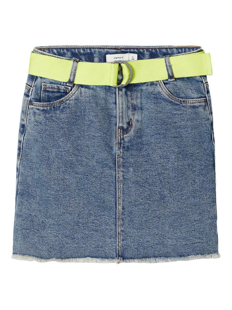 Fatino High Waist Denim Skirt