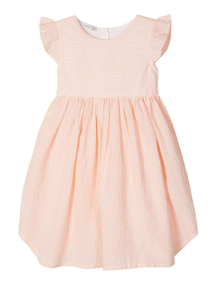 Jamille Short Sleeve Orange Stripe Dress