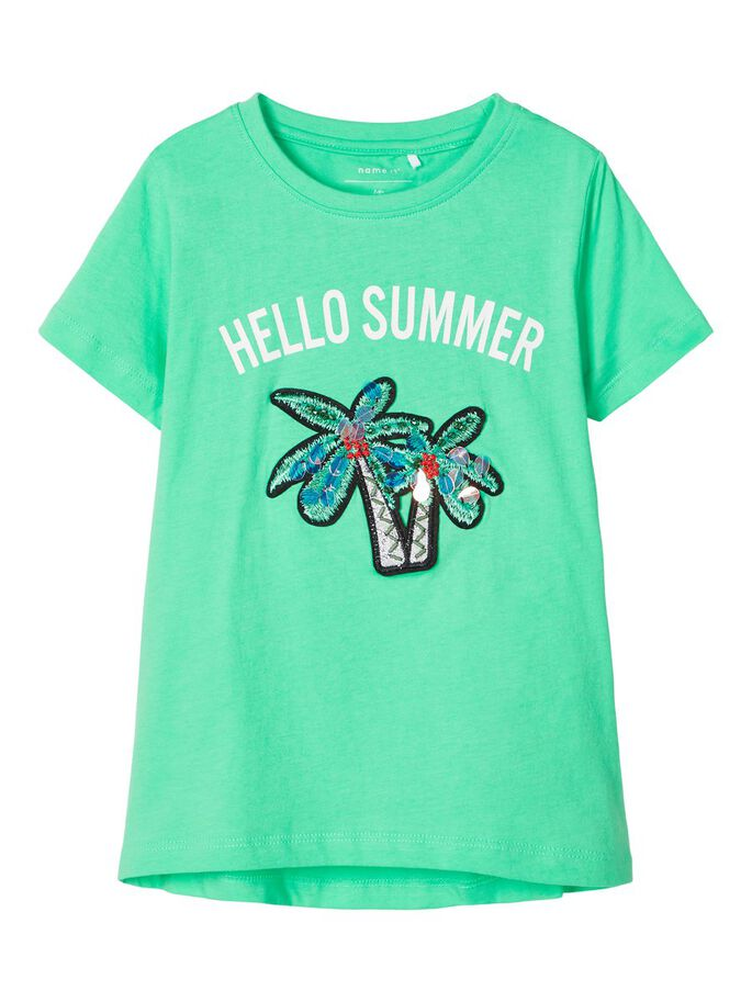 Palm Embellished T-shirt green