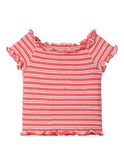 Cropped Smock T-shirt coral