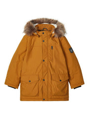 Mibis Tan Boys Parka Jacket