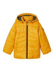 Quilted Puffer Jacket yellow