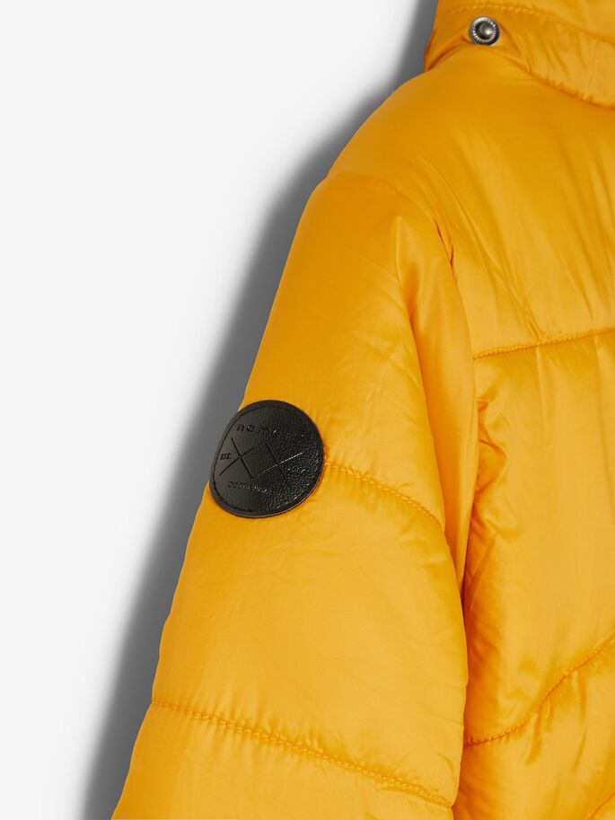 Quilted Puffer Jacket yellow arm