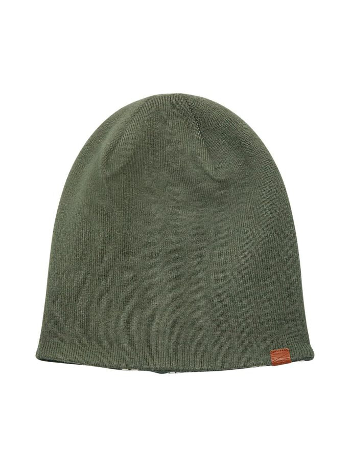 Murphey Reversible Boys Thyme Colour Knit Hat