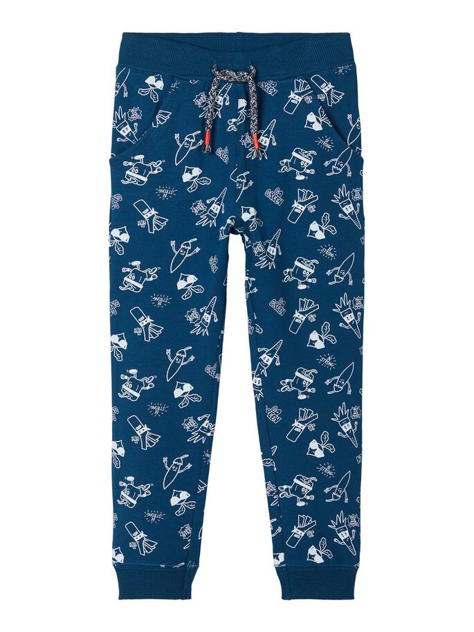 Laban Vegetable Print Blue Sweatpants